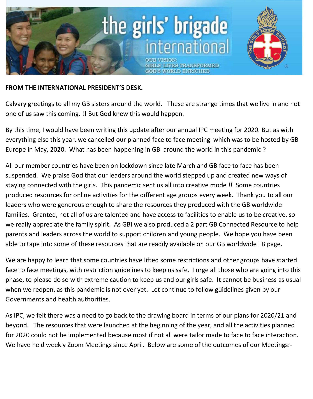 ICGB 主席分享信 (2020年8月)
